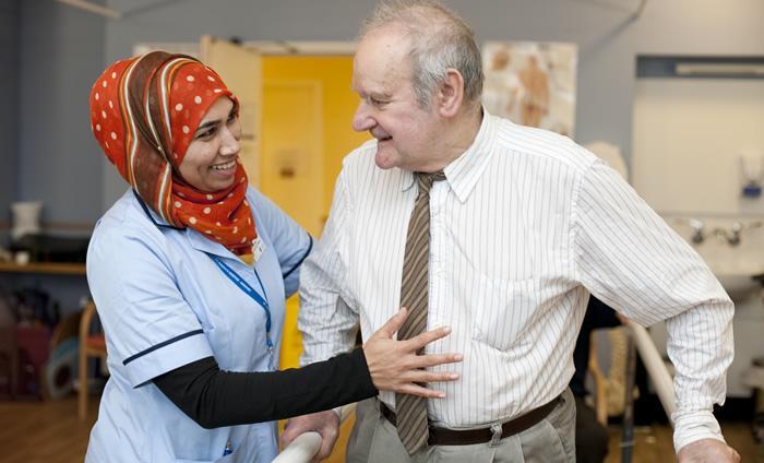 st josephs hospice improving hospice access to shared care records 1_nurse helping elderly
