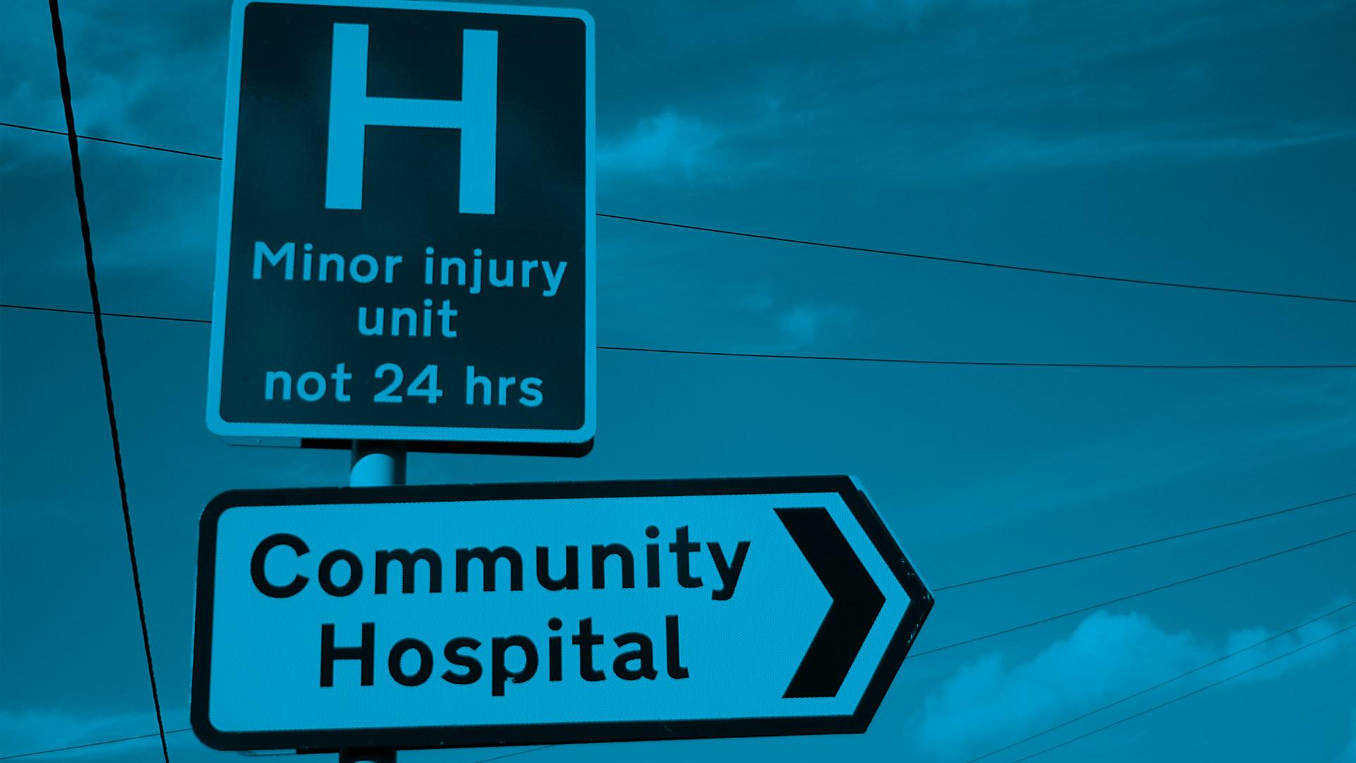 community hospital sign