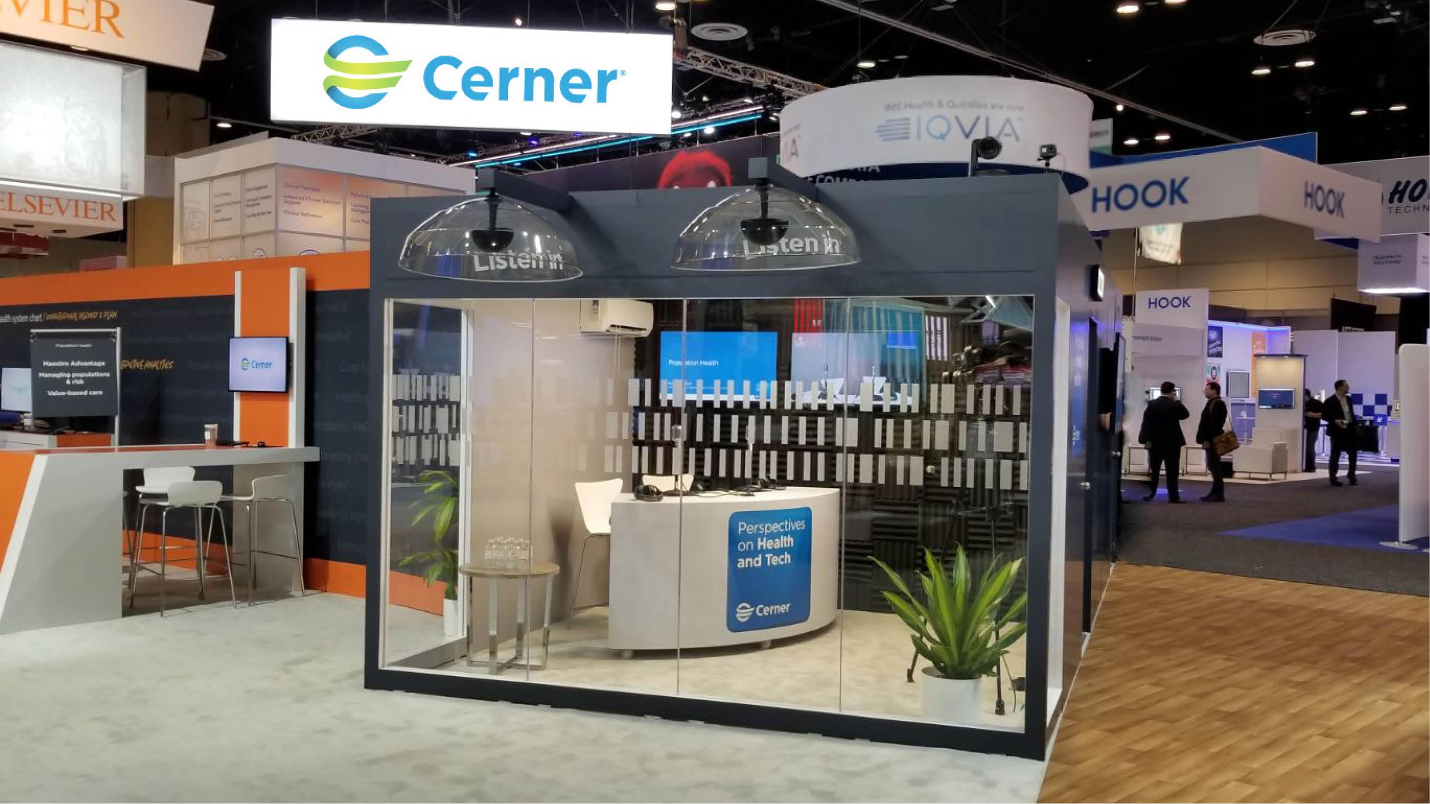 Cerner booth HIMSS