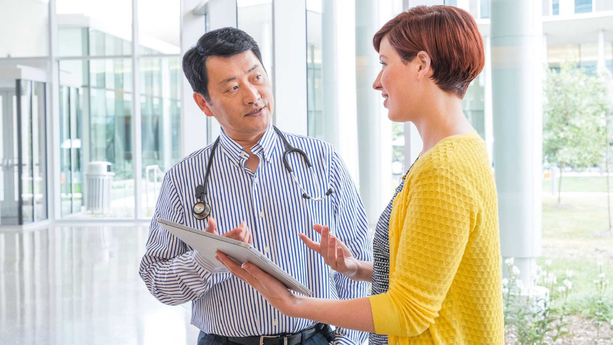 doctor talking