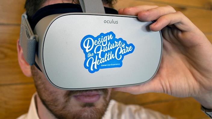 Cerner associate using VR headset