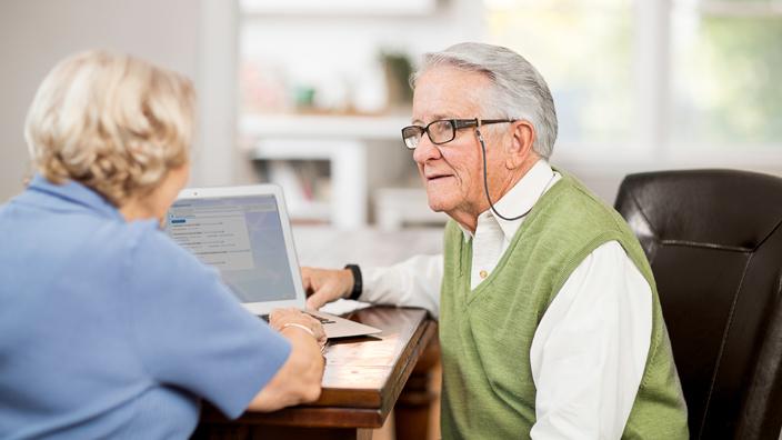 Seniors discussing
