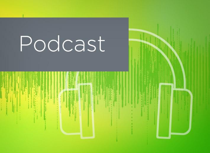 Podcast_green overlay headphones