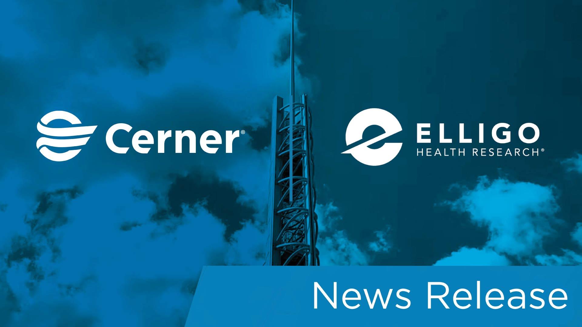 12-8_elligo_newsrelease_hero_cerner and elligo logos over building photo blue overlay