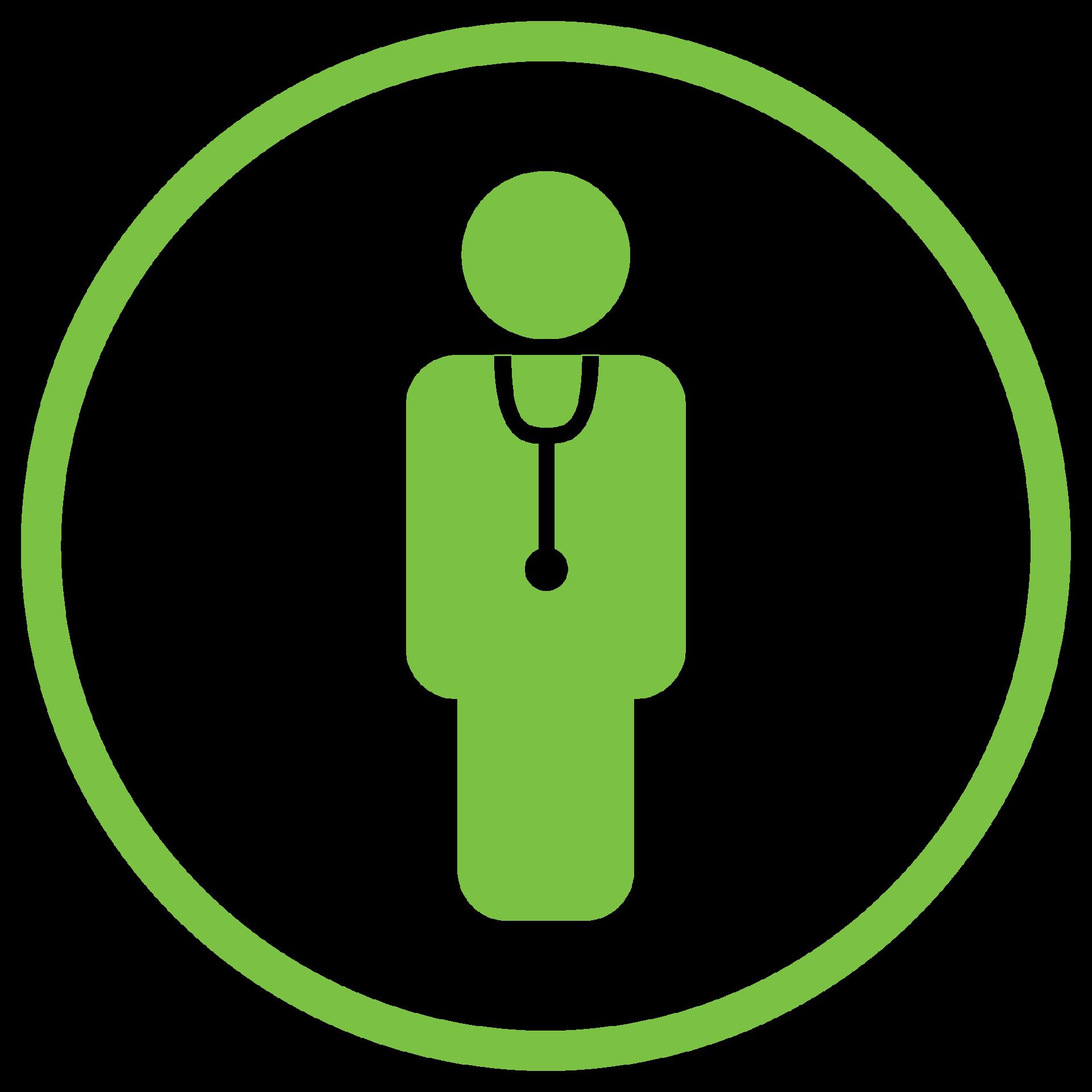 AmbulatoryIcon_Clinicians_green_medical staff