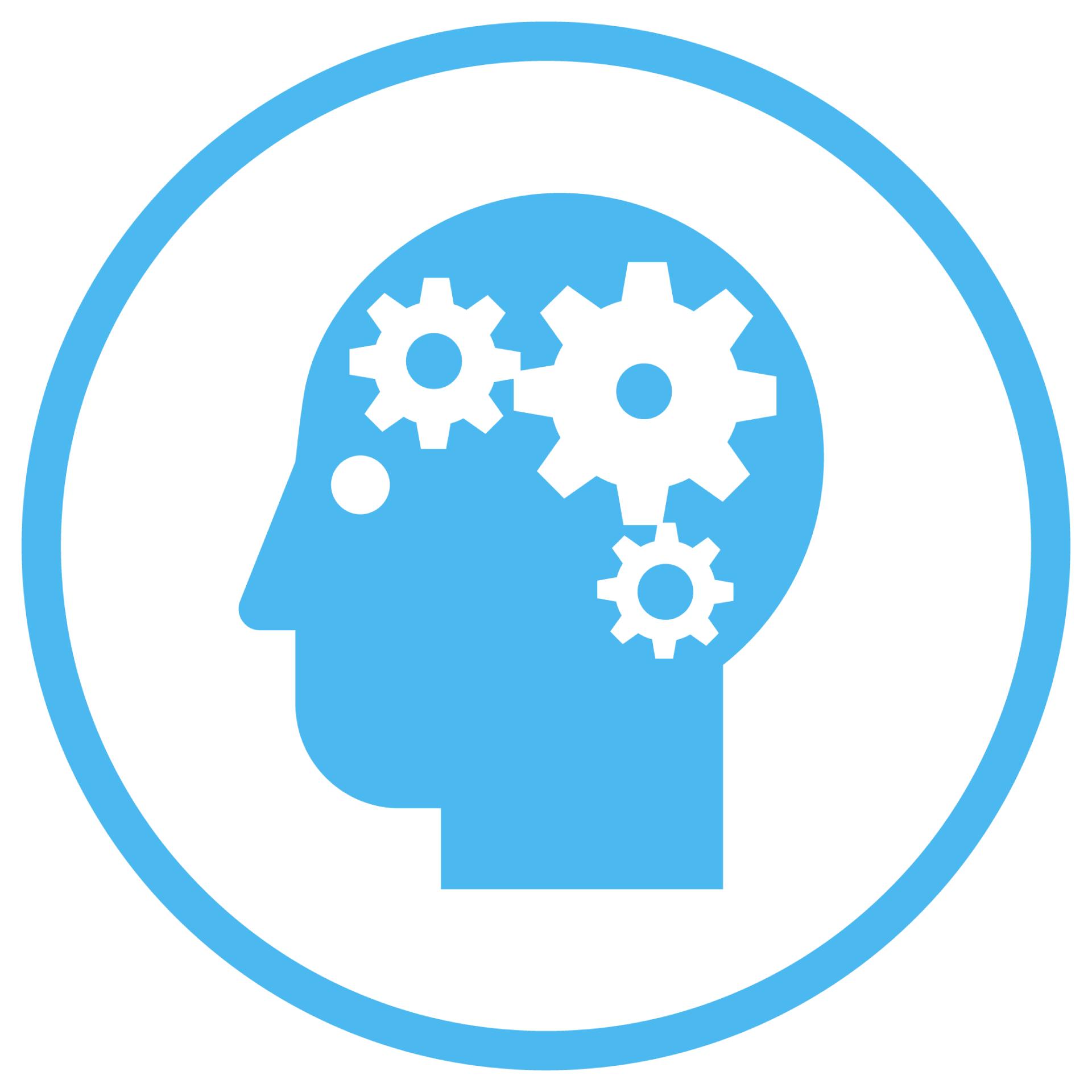 AmbulatoryIcon_blue_Clinician efficiency_brain gears