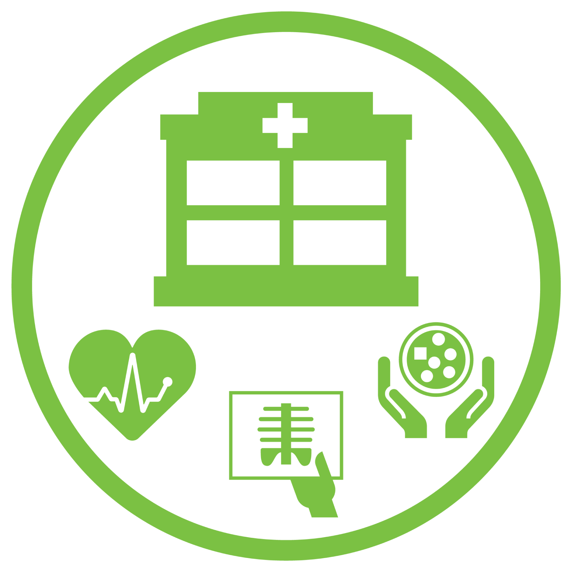 AmbulatoryIcon_Service line advancement_green_hospital and other med icons