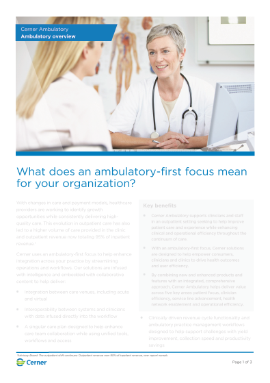 Ambulatory solution overview