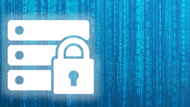 Patient Privacy image_blue lock with blue data background