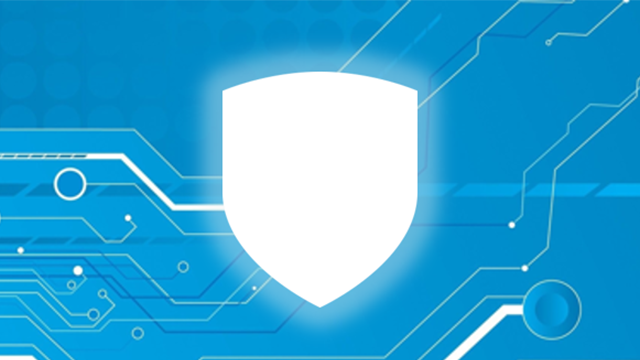 Security Policy image_blue shield with blue data background