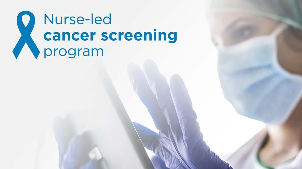 Nurse-led cancer screening program