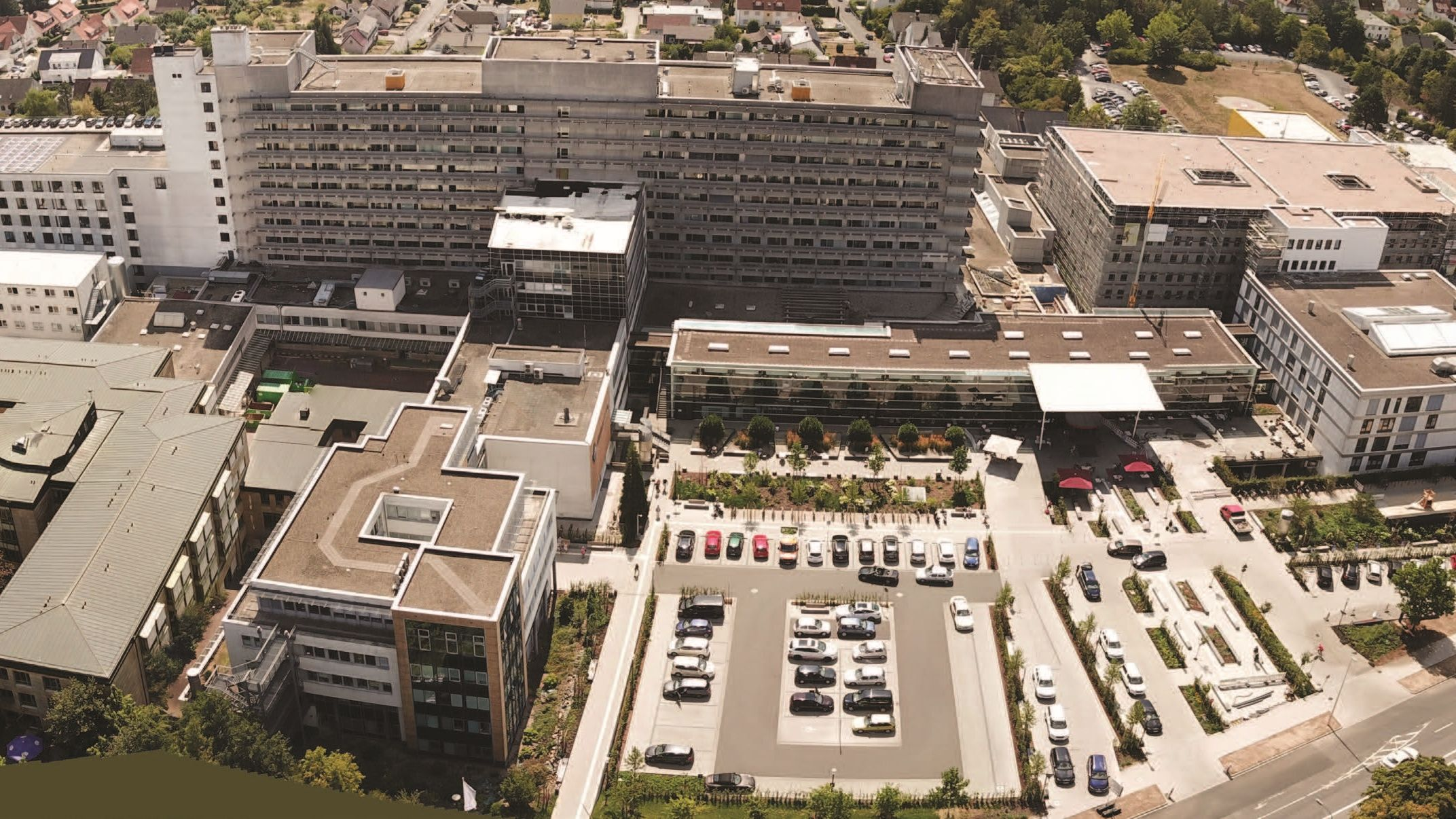 Klinikum Fulda von oben
