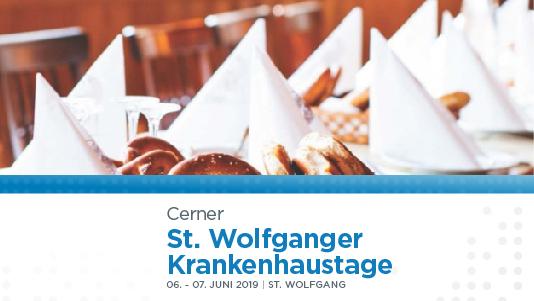 St. Wolfganger Krankenhaustage 2019