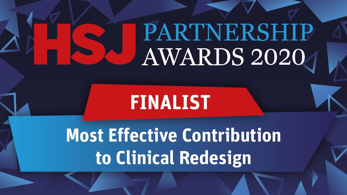 HSJ partnership awards shortlist - most effective contribution clinical redesign