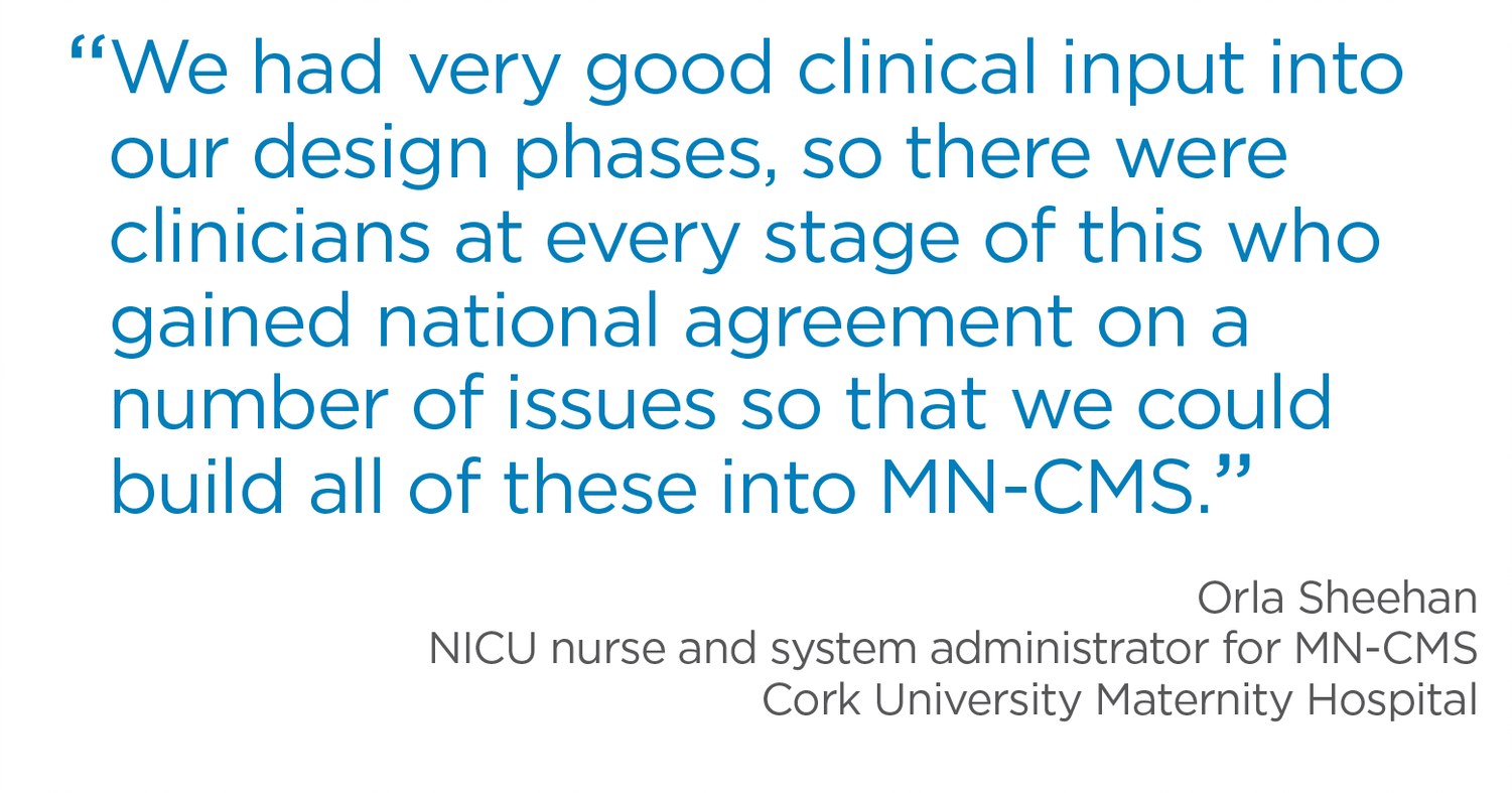 Orla Sheehan, NICU nurse and system administrator for MN-CMS