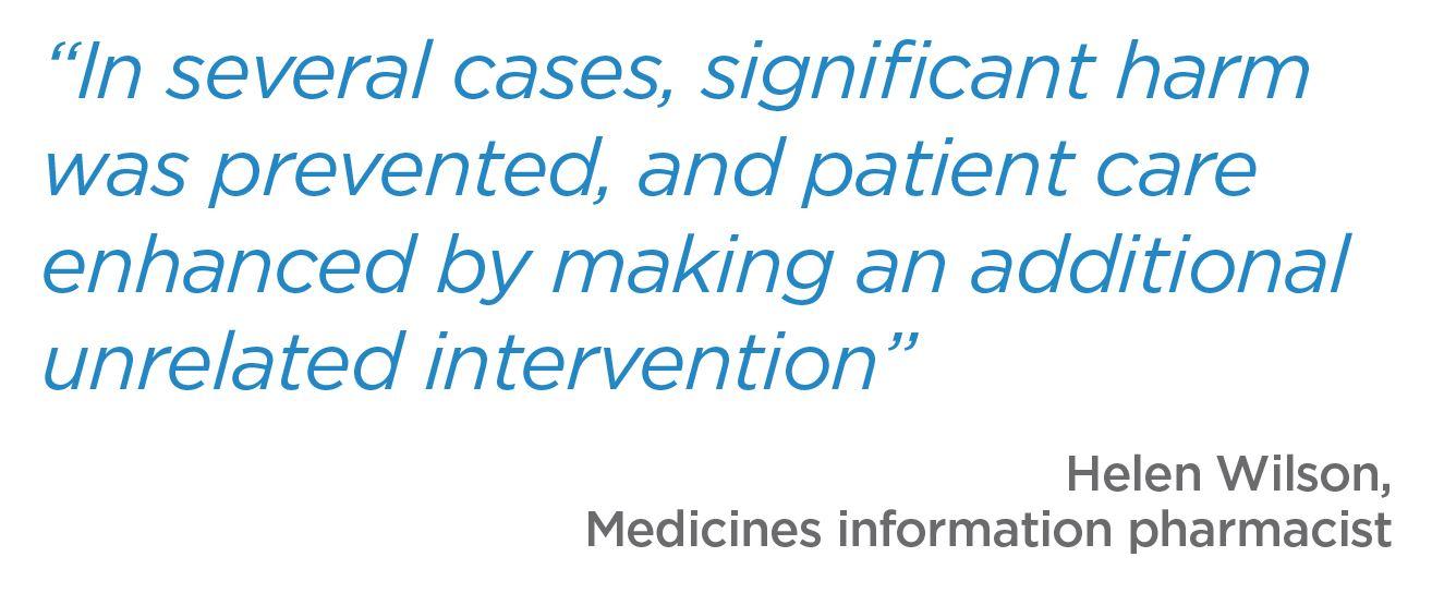 Quote, Helen Wilson, Medicines information pharmacist