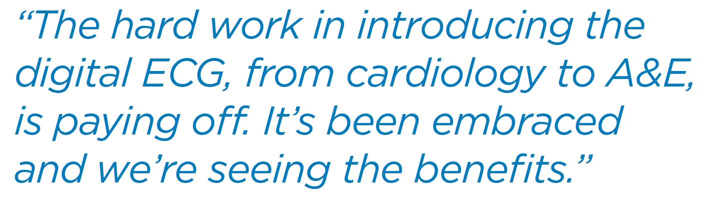 Minutes matter - digital ECGs speeding up cardiac care decisions quote